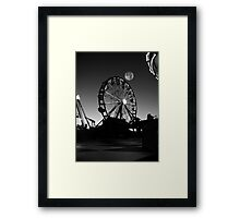 Ferris Wheel With Full Moon Framed Print