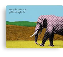 The world needs more polka dot elephants Canvas Print
