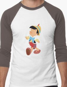 Pinocchio Illustration Men's Baseball ¾ T-Shirt