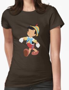 Pinocchio Illustration Womens Fitted T-Shirt