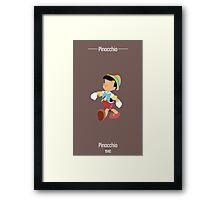 Pinocchio Illustration Framed Print