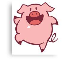 Dancing Pig Canvas Print