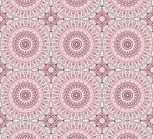 Mauve, Pink & Blue Kaleidoscope Flowers by Mercury McCutcheon