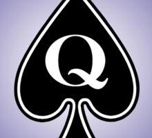 Smartphone Case - Queen of Spades - Purple Sticker
