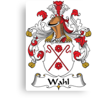 Wahl Coat of Arms (German) Canvas Print