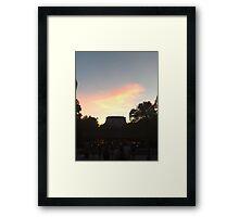 Sunset over The Land Framed Print