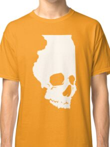Skullinois On Black Shirts Classic T-Shirt