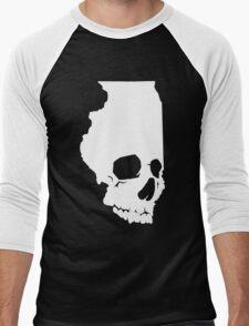 Skullinois On Black Shirts Men's Baseball ¾ T-Shirt