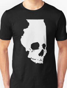 Skullinois On Black Shirts Unisex T-Shirt