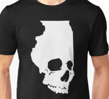 Skullinois On Black Shirts Unisex T-Shirt