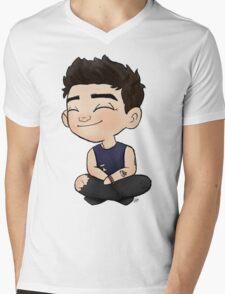 Mini Bassist Mens V-Neck T-Shirt