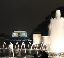 Lincoln Memorial/ WW2 Memorial by Natalie DiTrapani