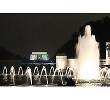 Lincoln Memorial/ WW2 Memorial Photographic Print