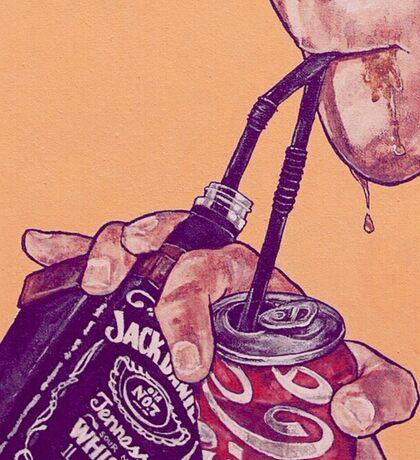 Jack and Coke Sticker
