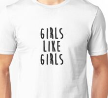 Girls like girls - inspired by Hayley Kiyoko - bold Unisex T-Shirt