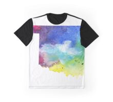 Watercolor Map of Oklahoma, USA in Rainbow Colors - Giclee Print of My Own Watercolor Painting Graphic T-Shirt