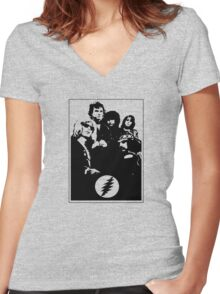 Good Old Grateful Dead Women's Fitted V-Neck T-Shirt