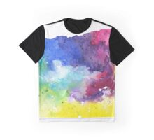 Watercolor Map of Oregon, USA in Rainbow Colors - Giclee Print of My Own Watercolor Painting Graphic T-Shirt