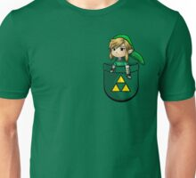 Pocket Link Hero of Time Zelda with Triforce Unisex T-Shirt