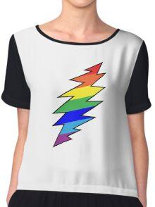 Rainbow Bolt Chiffon Top