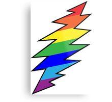 Rainbow Bolt Metal Print