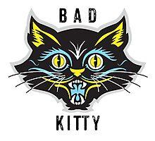 Black Cat graphic Photographic Print
