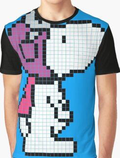 Pixelize Snoopy Graphic T-Shirt