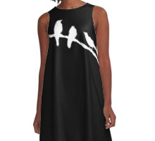 Crows on a wire A-Line Dress