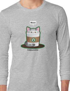 Cute Cat Coffee Long Sleeve T-Shirt