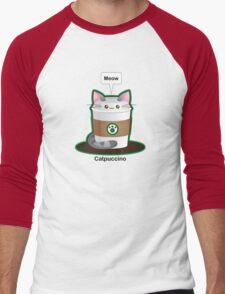 Cute Cat Coffee Men's Baseball ¾ T-Shirt