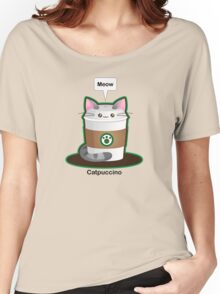 Cute Cat Coffee Women's Relaxed Fit T-Shirt