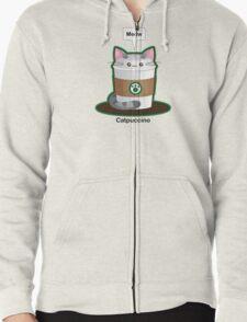 Cute Cat Coffee Zipped Hoodie