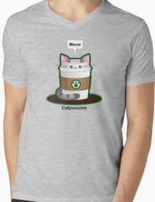 Cute Cat Coffee Mens V-Neck T-Shirt