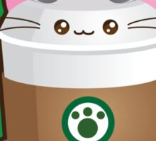 Cute Cat Coffee Sticker
