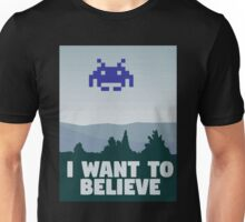 X Files - I want to believe 8 bit retro Unisex T-Shirt