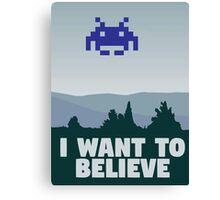 X Files - I want to believe 8 bit retro Canvas Print