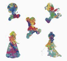 Mario 3D World Paint Splatter Kids Clothes