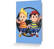 Ness and Lucas Greeting Card