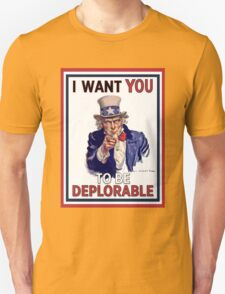 Basket of Deplorables - Uncle Sam I Want You Unisex T-Shirt