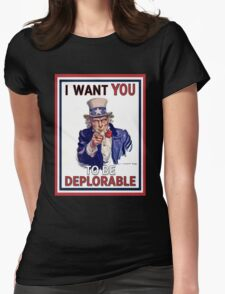 Basket of Deplorables - Uncle Sam I Want You Womens Fitted T-Shirt