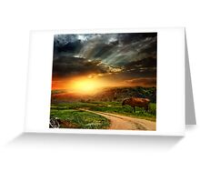 On Hill Greeting Card