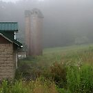 Fog Surrounded Barn, Polk Center, Venango County, PA by Geno Rugh