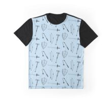 Medieval Weaponry (blue) Graphic T-Shirt
