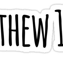 Matthew 11:28 Sticker