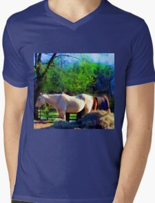 By My Side Mens V-Neck T-Shirt