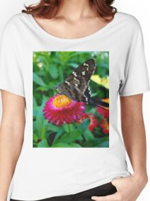 Butterfly on Flower Women's Relaxed Fit T-Shirt