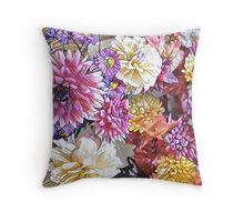 Floral Surprise flowers  Throw Pillow