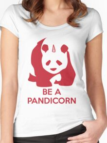 Be A Pandicorn  Women's Fitted Scoop T-Shirt