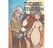 The Girl & the Gun Photographic Print