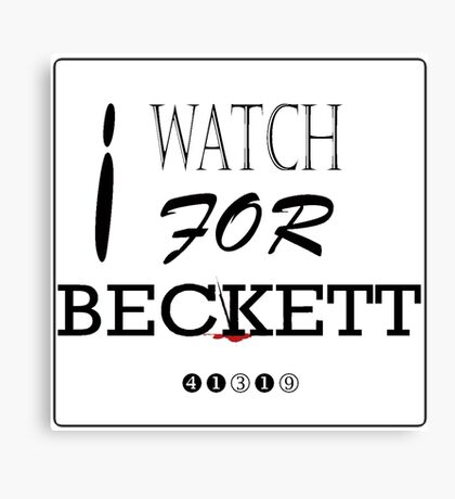 I WATCH FOR BECKETT Canvas Print